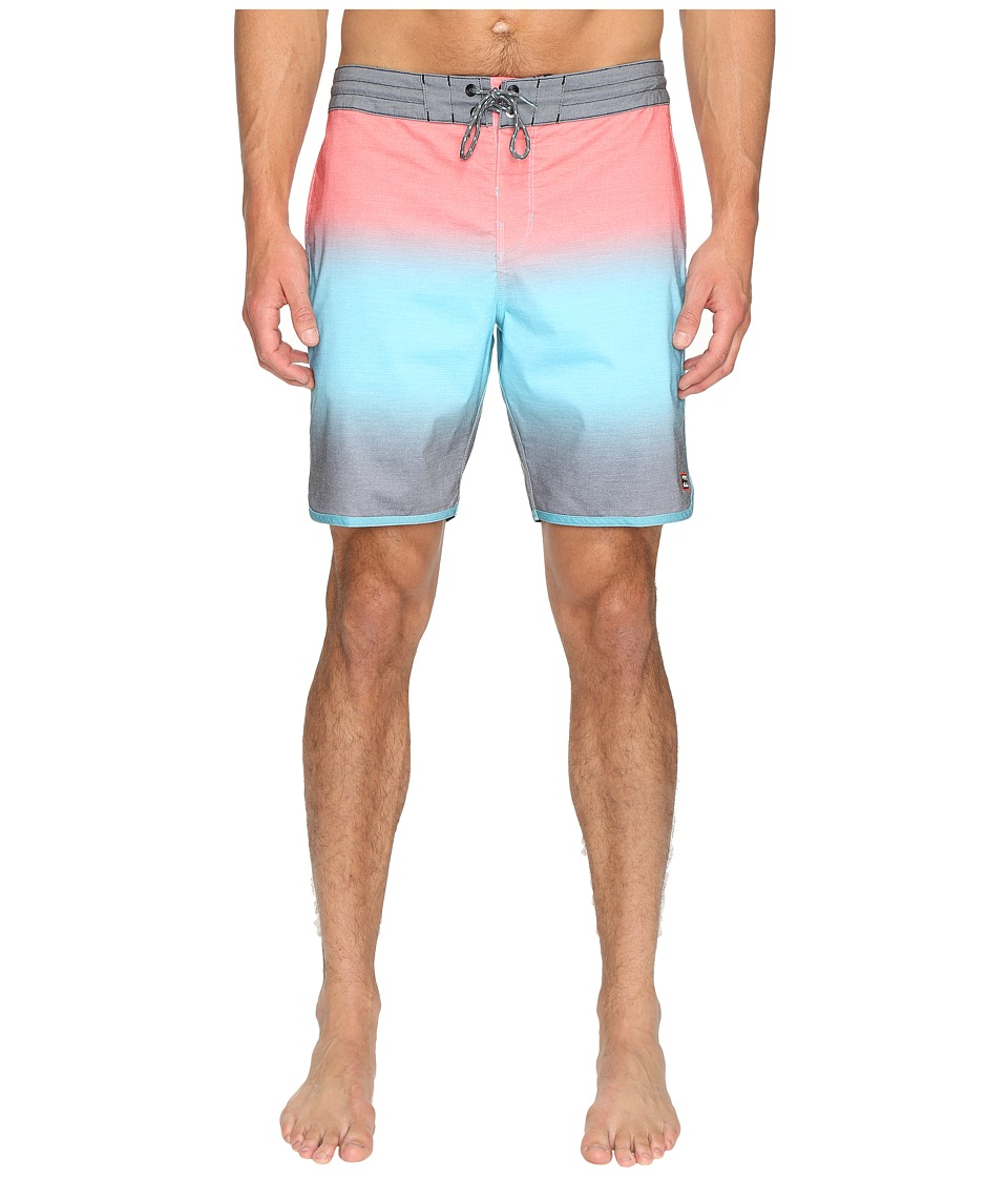 Billabong - Tribong Scallop Lo Tides 19 Boardshorts (Aqua) Men's Swimwear