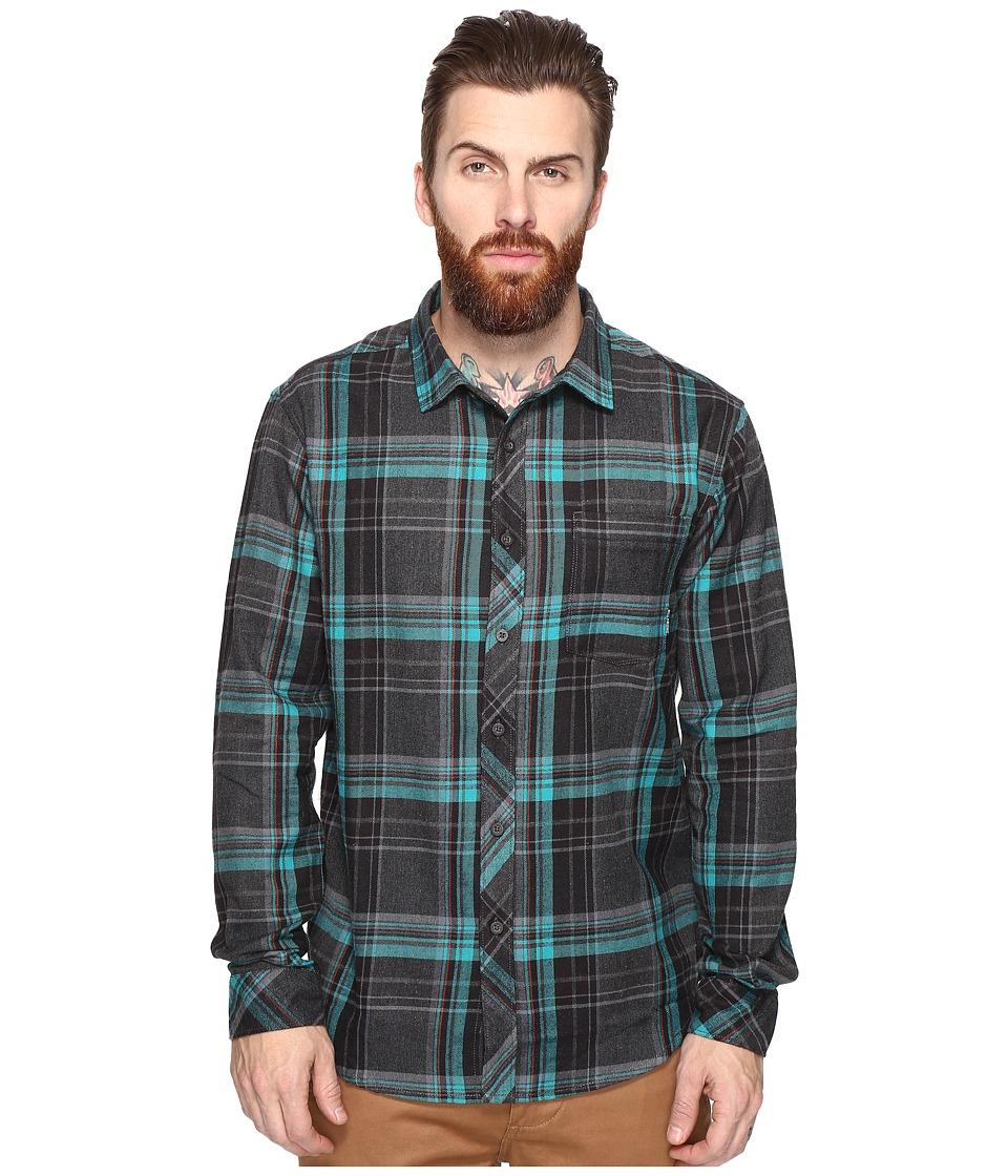 Billabong - Coastline Wave Washed Flannel (Charcoal Heather) Men's Clothing