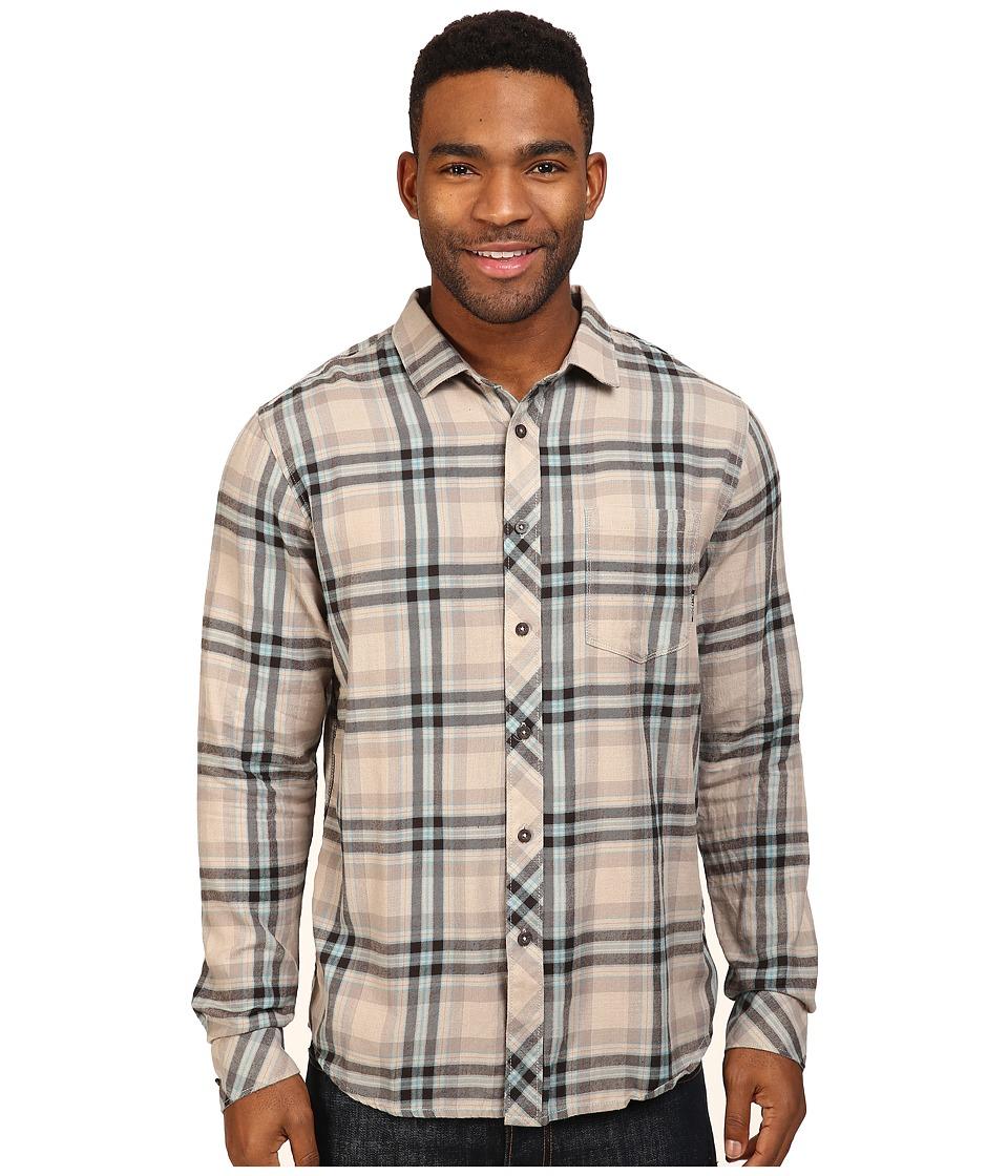 Billabong - Fremont Long Sleeve Flannel (Silver) Men's Clothing