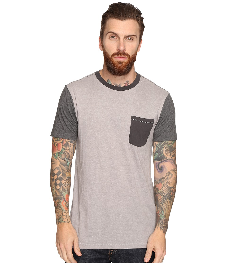 Billabong - Zenith Short Sleeve Crew (Light Grey Heather) Men's Clothing