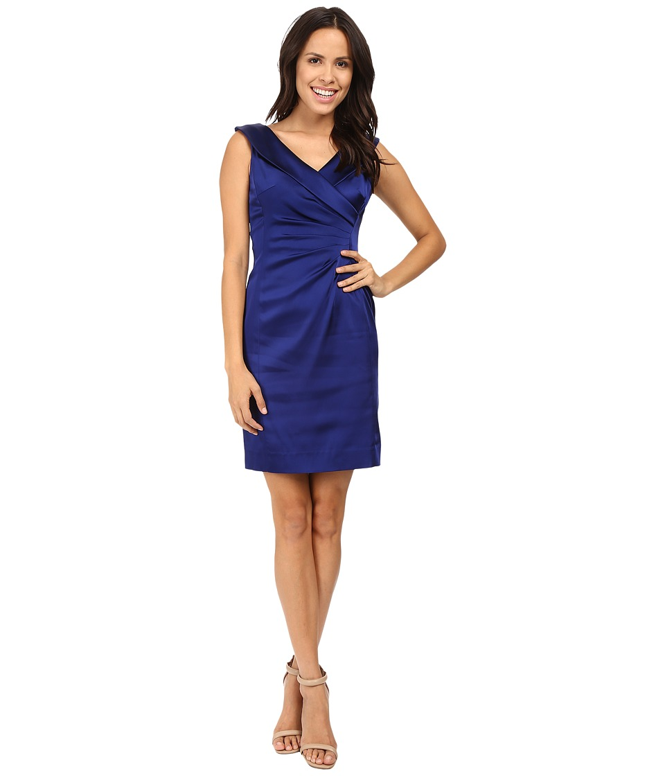 Tahari by ASL - Portrait Collar Dress (Majestic Blue) Women's Dress