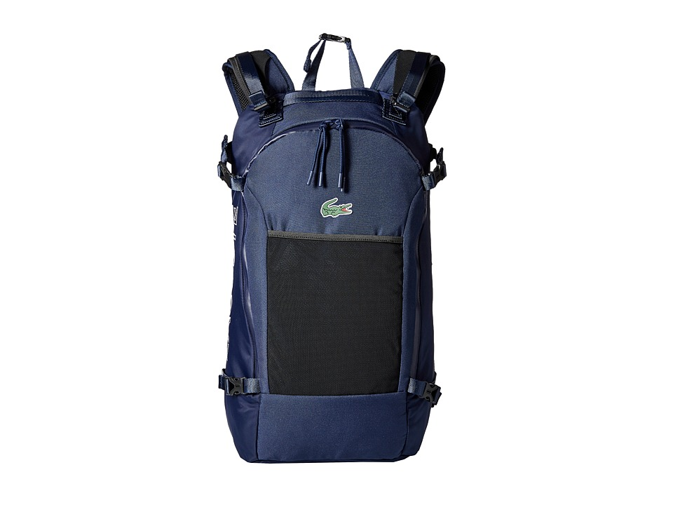 Lacoste - Match Point Nylon Backpack (Peacoat) Backpack Bags