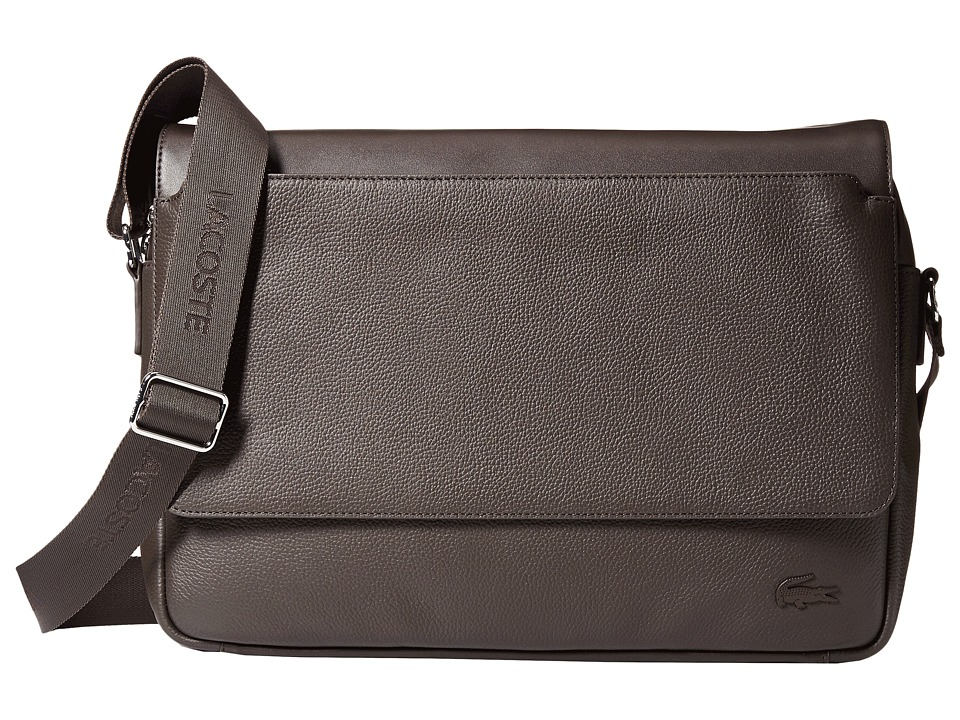 Lacoste - Rafael Leather Messenger Bag (Chocolate Brown) Messenger Bags