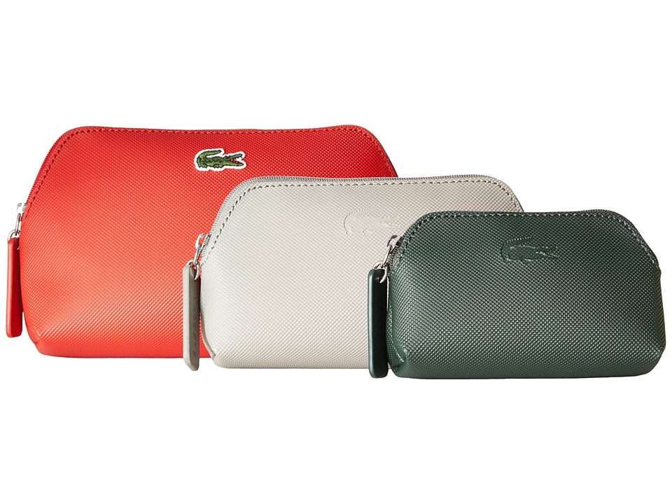 Lacoste L.12.12 Concept 3 Size Make Up Pouches (Salsa Combo) Cosmetic Case