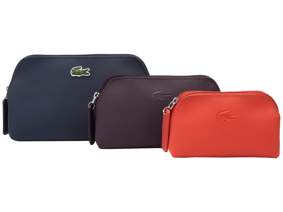 Lacoste L.12.12 Concept 3 Size Make Up Pouches (Eclipse Combo) Cosmetic Case