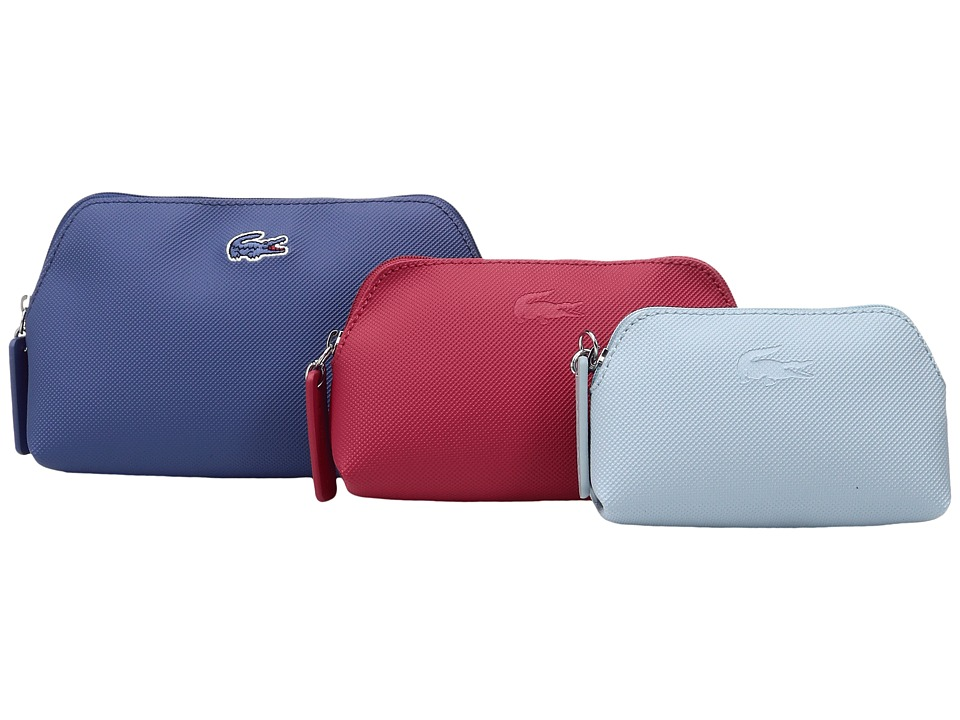 Lacoste - L.12.12 Concept 3 Size Make Up Pouches (Dutch Blue Combo) Cosmetic Case