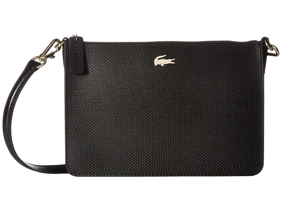Lacoste - Chantaco Double Pocket Zip Crossover (Black) Bags