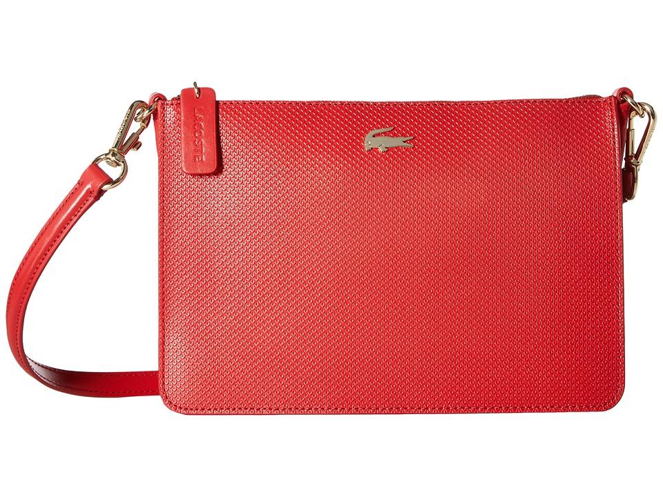 Lacoste - Chantaco Double Pocket Zip Crossover (Pompeiian Red) Bags