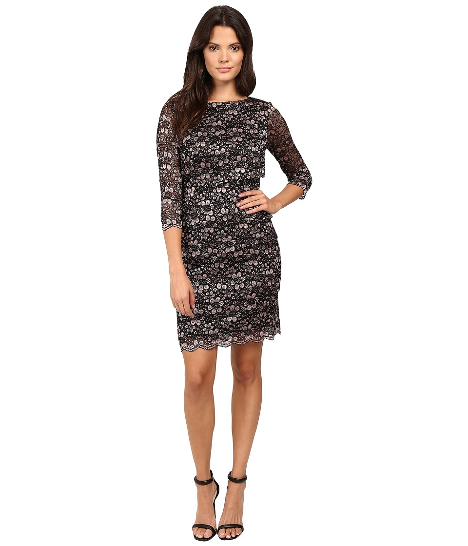 Tahari by ASL Tiered Body Sparkle Lace Dress