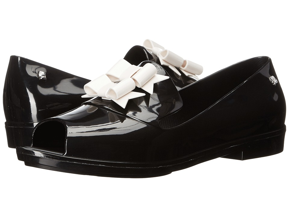 Melissa Shoes Brogue + KL (Black/White) Women