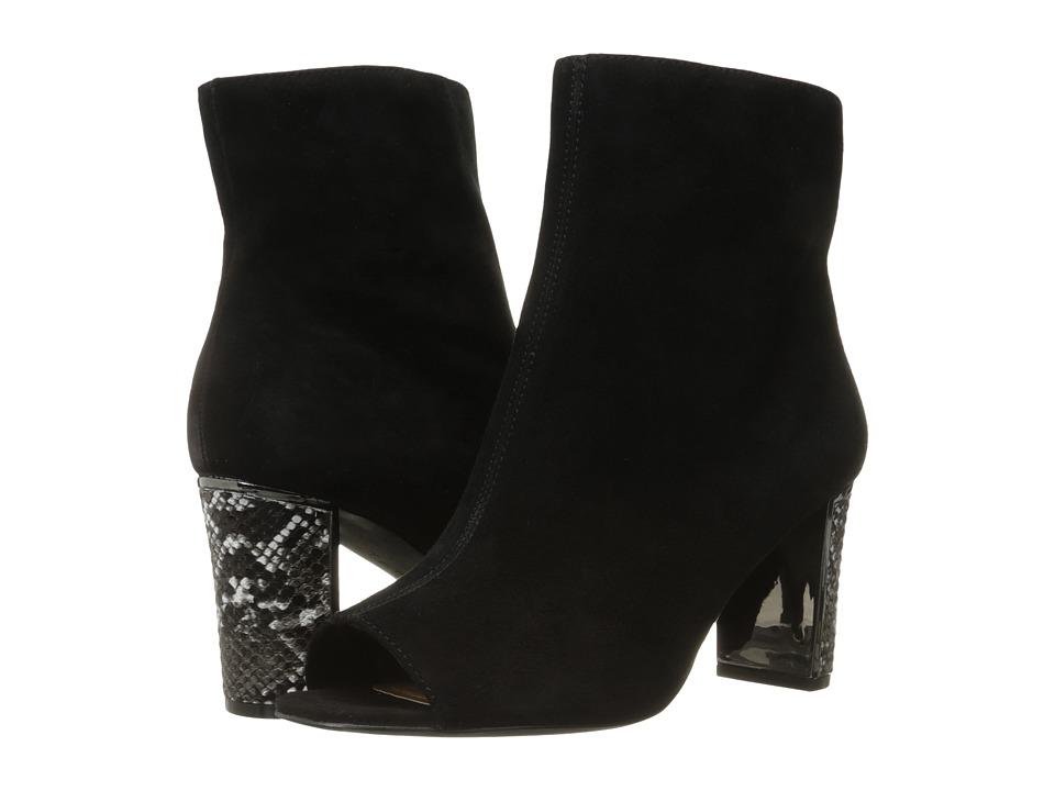 Tahari - Aviator (Black Suede/Snake) Women's Shoes