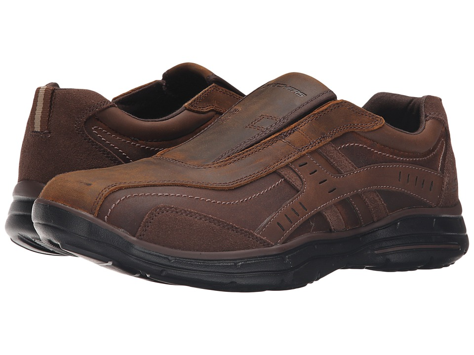 SKECHERS - Relaxed Fit Glides - Roemer (Dark Brown) Men's Shoes