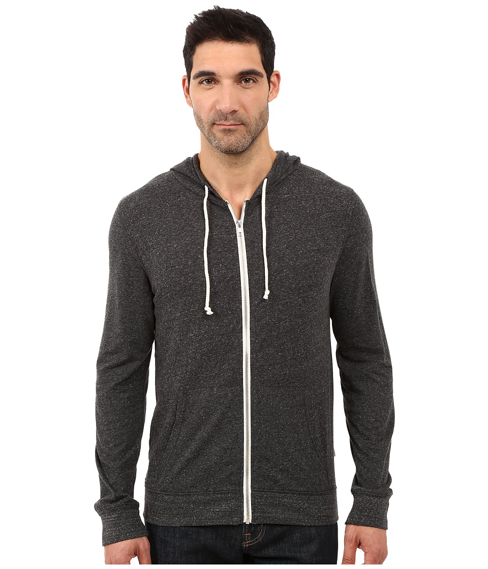 Threads 4 Thought - Giulio Tri-Blend Jersey Hoodie (Heather Black) Men's Sweatshirt