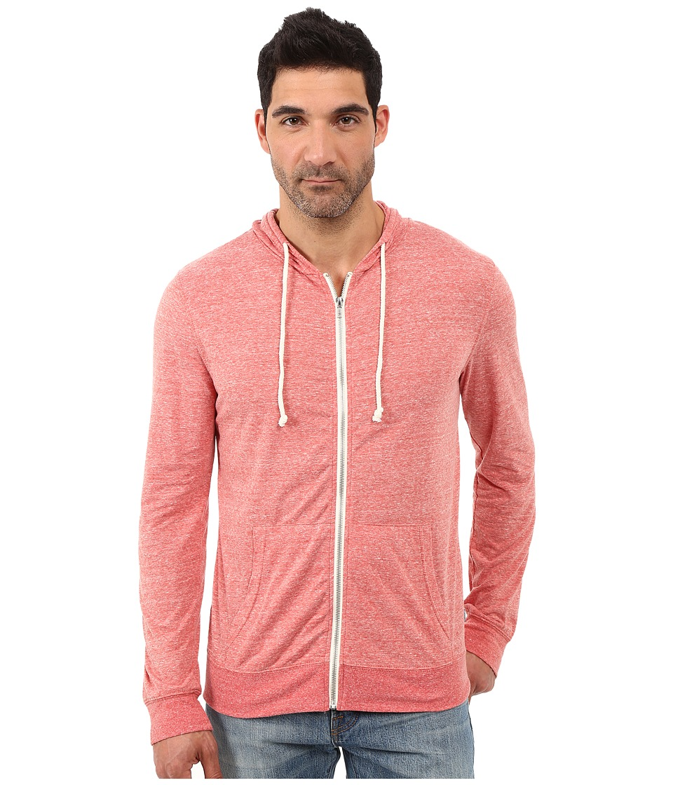 Threads 4 Thought - Giulio Tri-Blend Jersey Hoodie (Red) Men's Sweatshirt