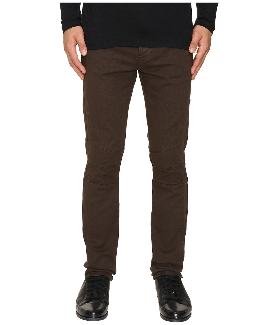 The Kooples - Colored Biker Denim (Khaki) Men's Jeans
