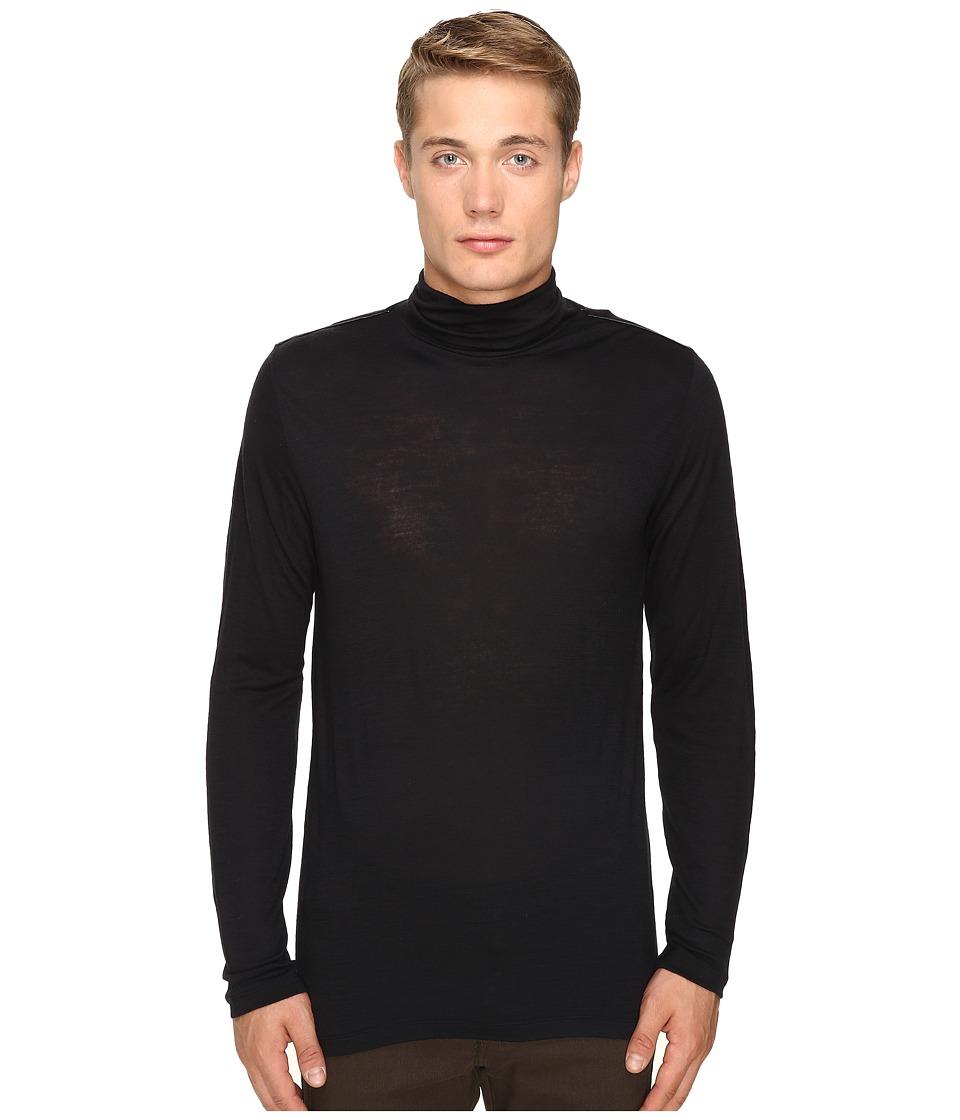 The Kooples Wooly Jersey Turtleneck (Black) Men