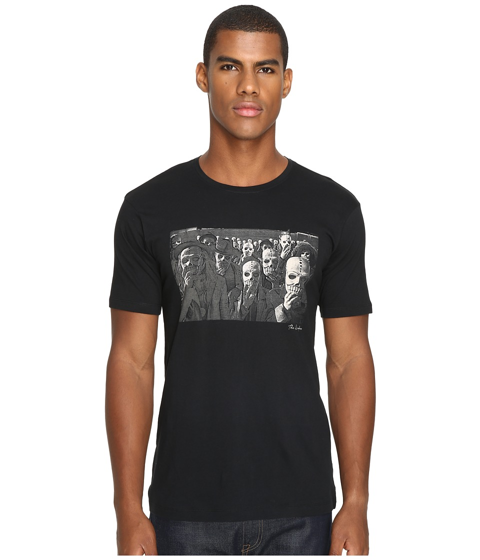 The Kooples - Light Basic Cotton Printed Graphic Tee (Black) Men's T Shirt