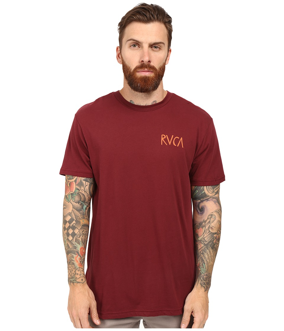 RVCA - Flip Flop Box T-Shirt (Tawny Port) Men's T Shirt