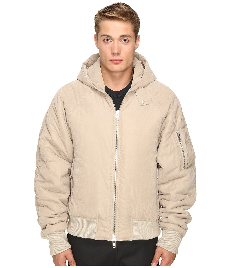 DBYD - Hooded MA-1 Jacket (Beige) Men's Coat