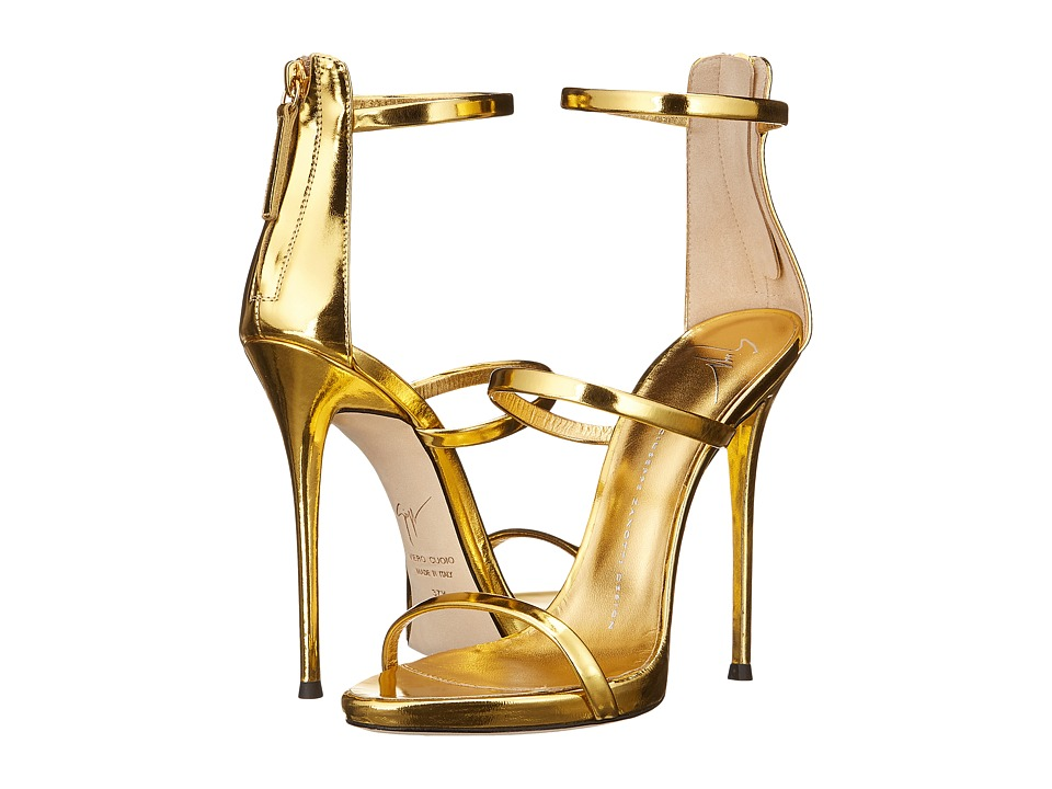 Giuseppe Zanotti Three Strap Sandal (Gold) Women