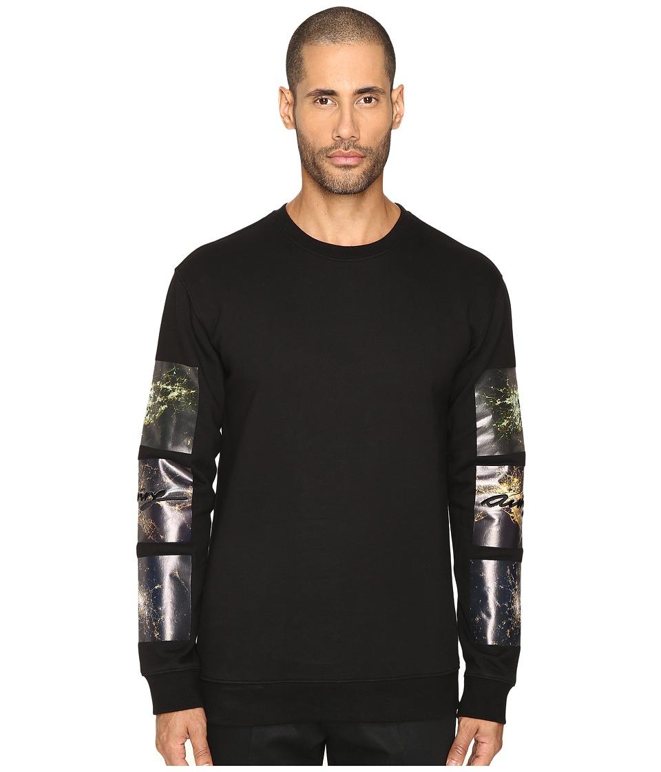 DBYD - City Printed Sleeve Sweatshirt (Black) Men's Sweatshirt