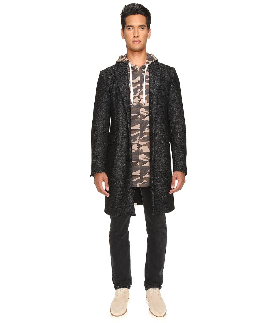 Pyer Moss - Flex Overcoat (Marled Grey/Light Beige) Men's Coat