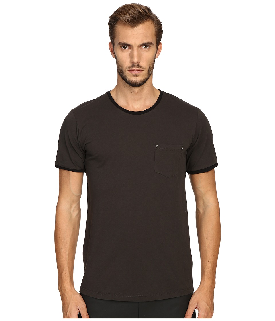 The Kooples - River Skull Pocket Crew Neck T-Shirt (Khaki) Men's T Shirt