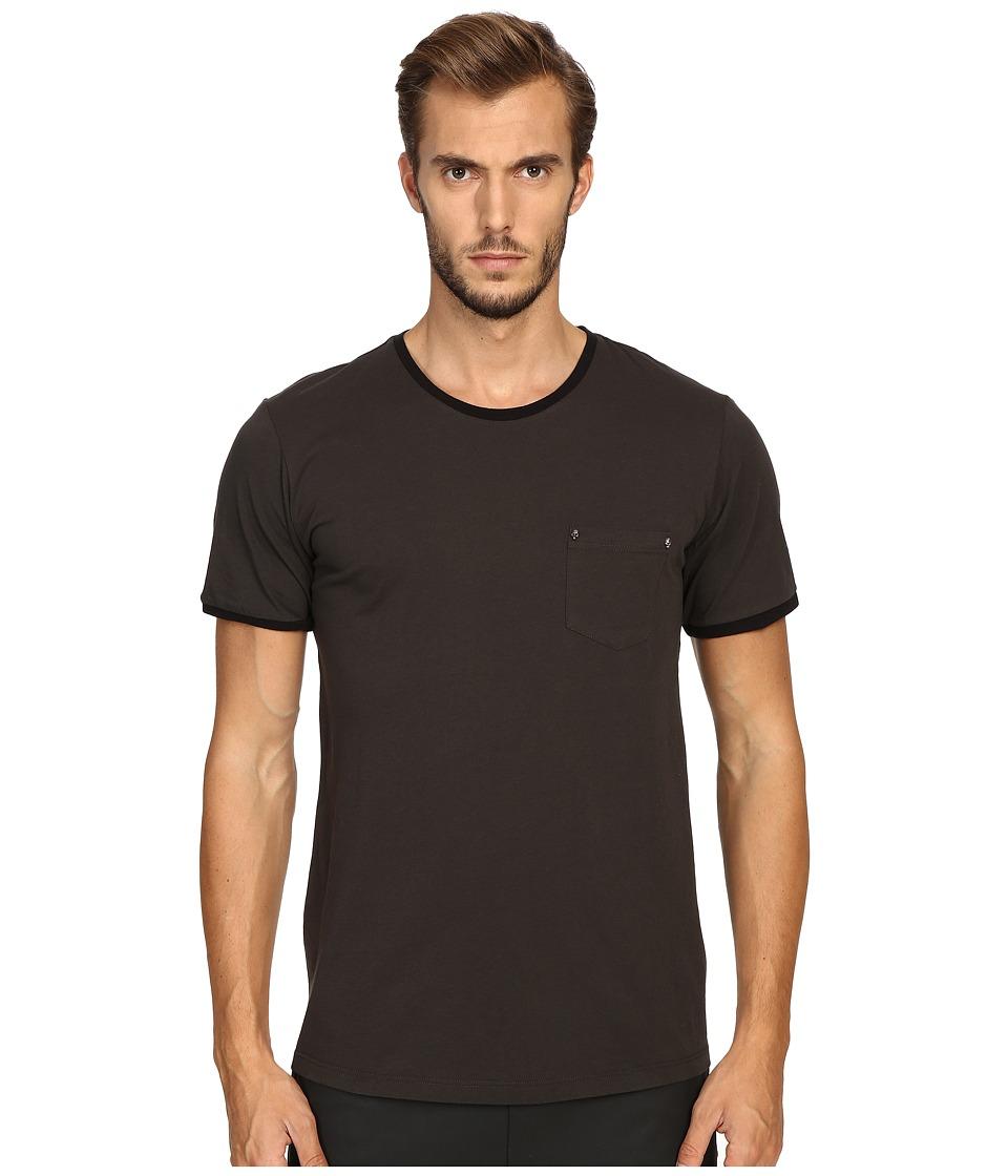The Kooples - River Skull Pocket Crew Neck T-Shirt (Khaki) Men's T Shirt