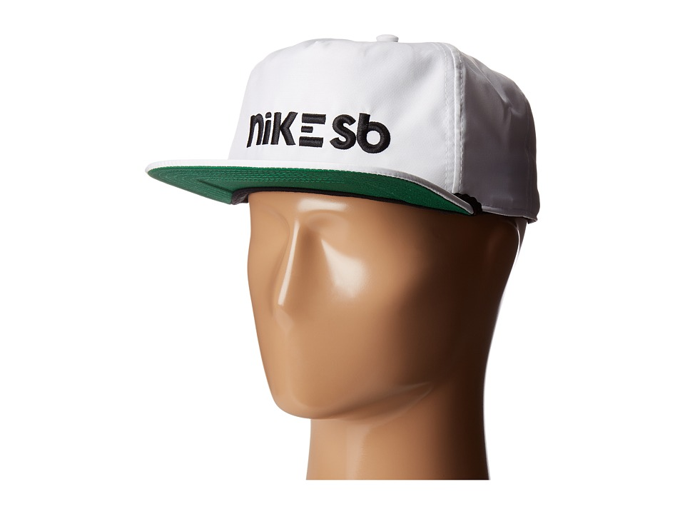 Nike SB - Aerobill Dri-Fit Cap (White/Pine Green/Black/Black) Caps