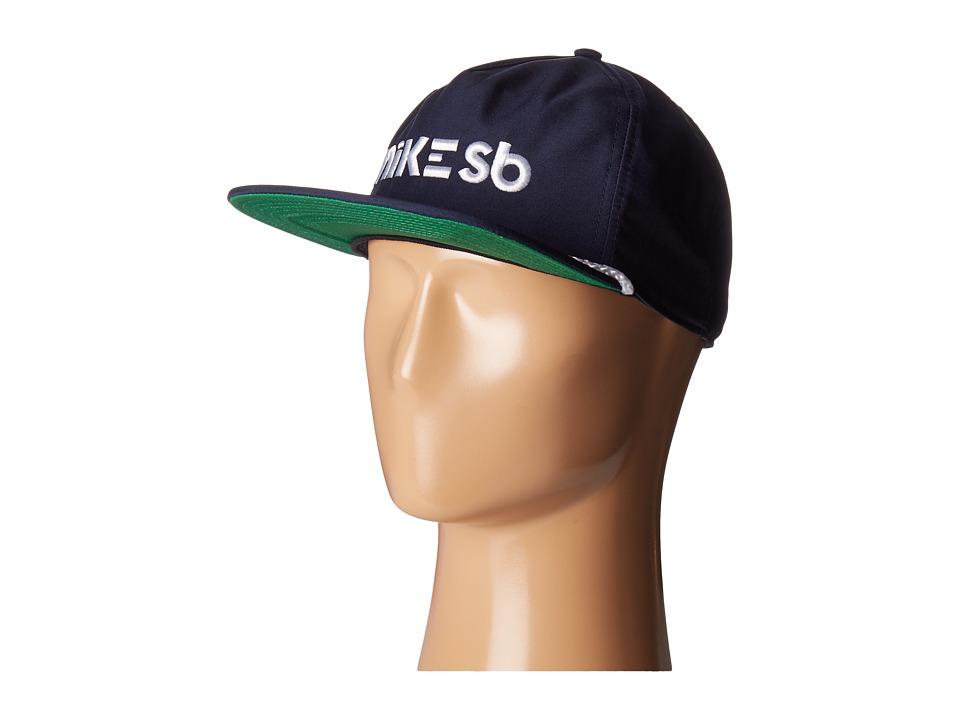 Nike SB - Aerobill Dri-Fit Cap (Obsidian/Pine Green/White/White) Caps
