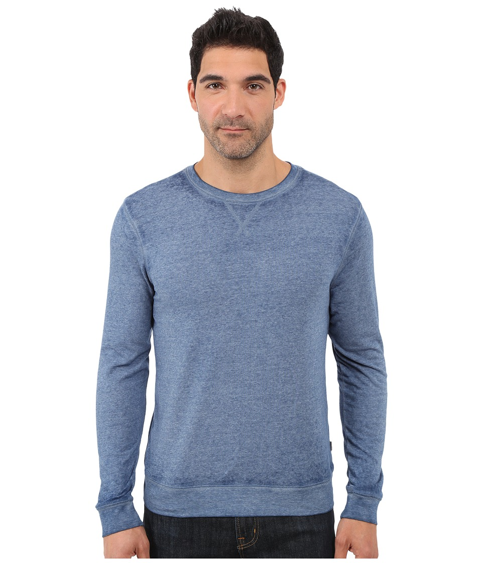 Threads 4 Thought - The Andrew Burnout Crew (China Blue) Men's Sweatshirt