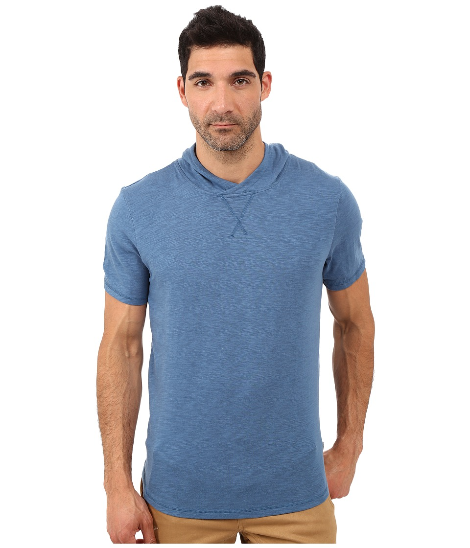 Threads 4 Thought - Moody Short Sleeve Slub Hoodie (Moroccan Blue) Men's Sweatshirt