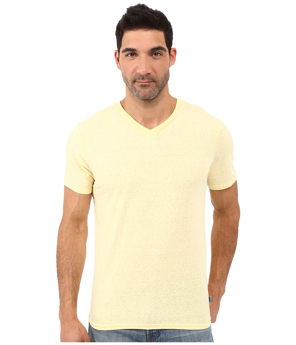 Threads 4 Thought - Baseline Tri-Blend V-Neck Tee (Canary) Men's T Shirt