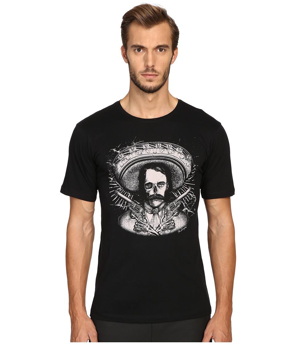 The Kooples - Graphic Crew Neck T-Shirt (Black) Men's T Shirt