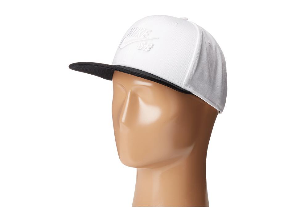 Nike SB - Icon Snapback (White/Black/Black/White) Caps