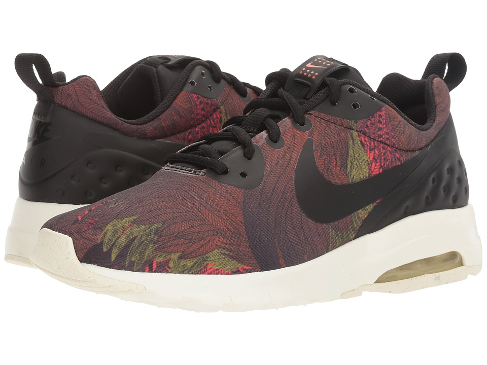Nike - Air Max Motion Low Print (Black/Max Orange/Gold Dart/Black) Women's Shoes