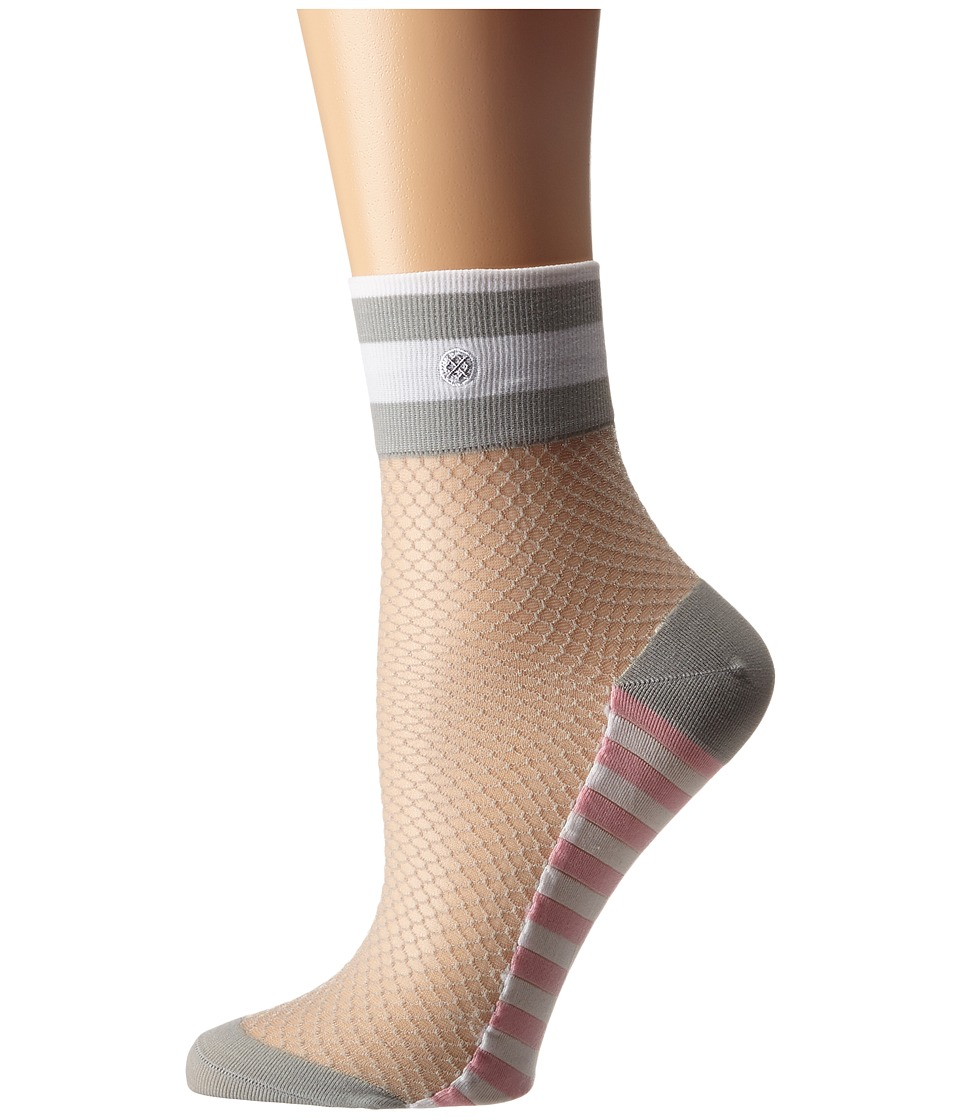 Stance - Spoiled Brat Anklet (Grey) Women's Quarter Length Socks Shoes