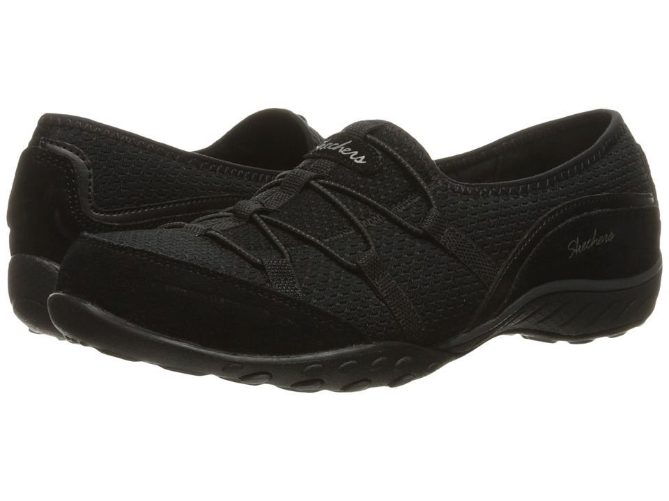 SKECHERS - Breathe Easy - Blithe (Black) Women's Shoes