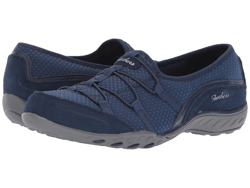 SKECHERS - Breathe Easy - Blithe (Navy) Women's Shoes