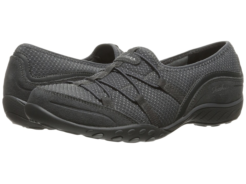 SKECHERS - Breathe Easy - Blithe (Gray) Women's Shoes