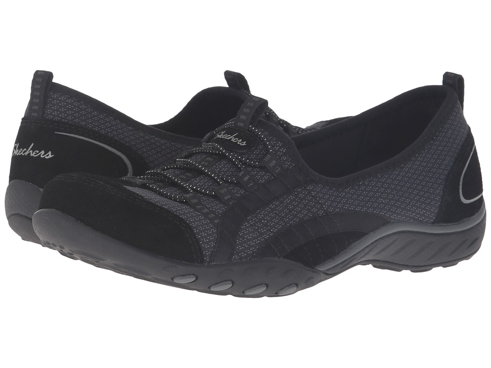 SKECHERS - Breathe Easy - Quick Wit (Black) Women's Shoes