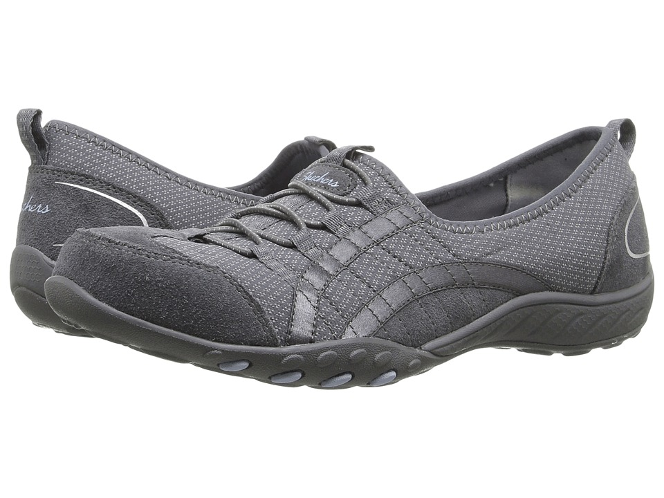 SKECHERS - Breathe Easy - Quick Wit (Gray) Women's Shoes