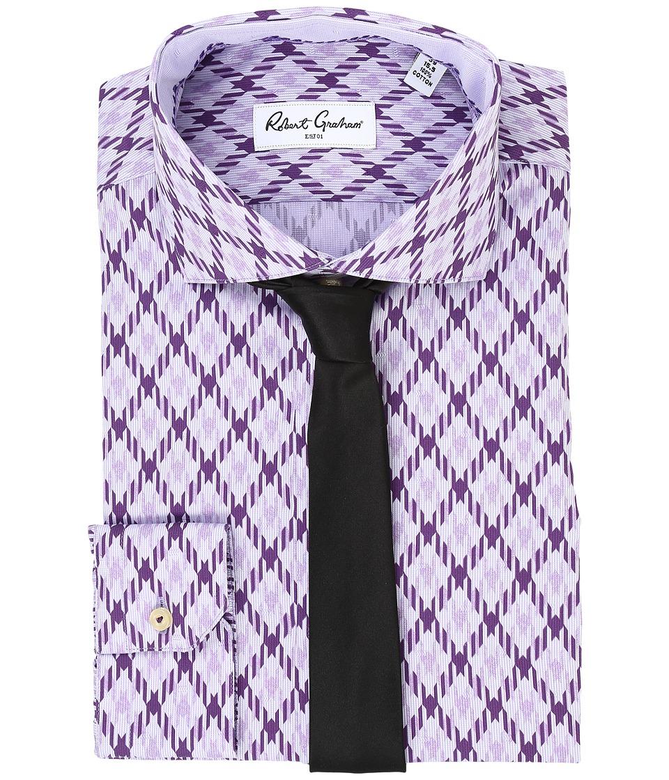 Robert Graham - Diamond Dress Shirt (Purple) Men's Long Sleeve Button Up