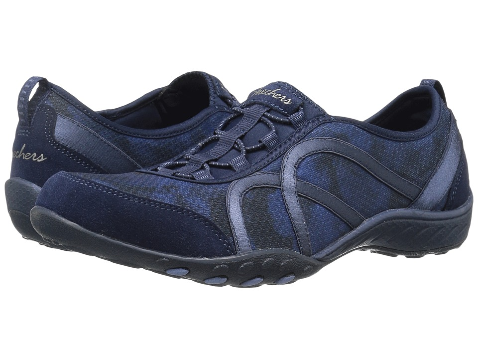 SKECHERS - Breathe Easy - Artful (Navy) Women's Shoes