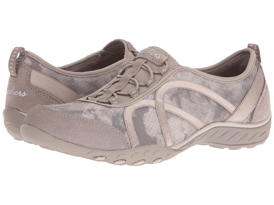 SKECHERS - Breathe Easy - Artful (Taupe) Women's Shoes
