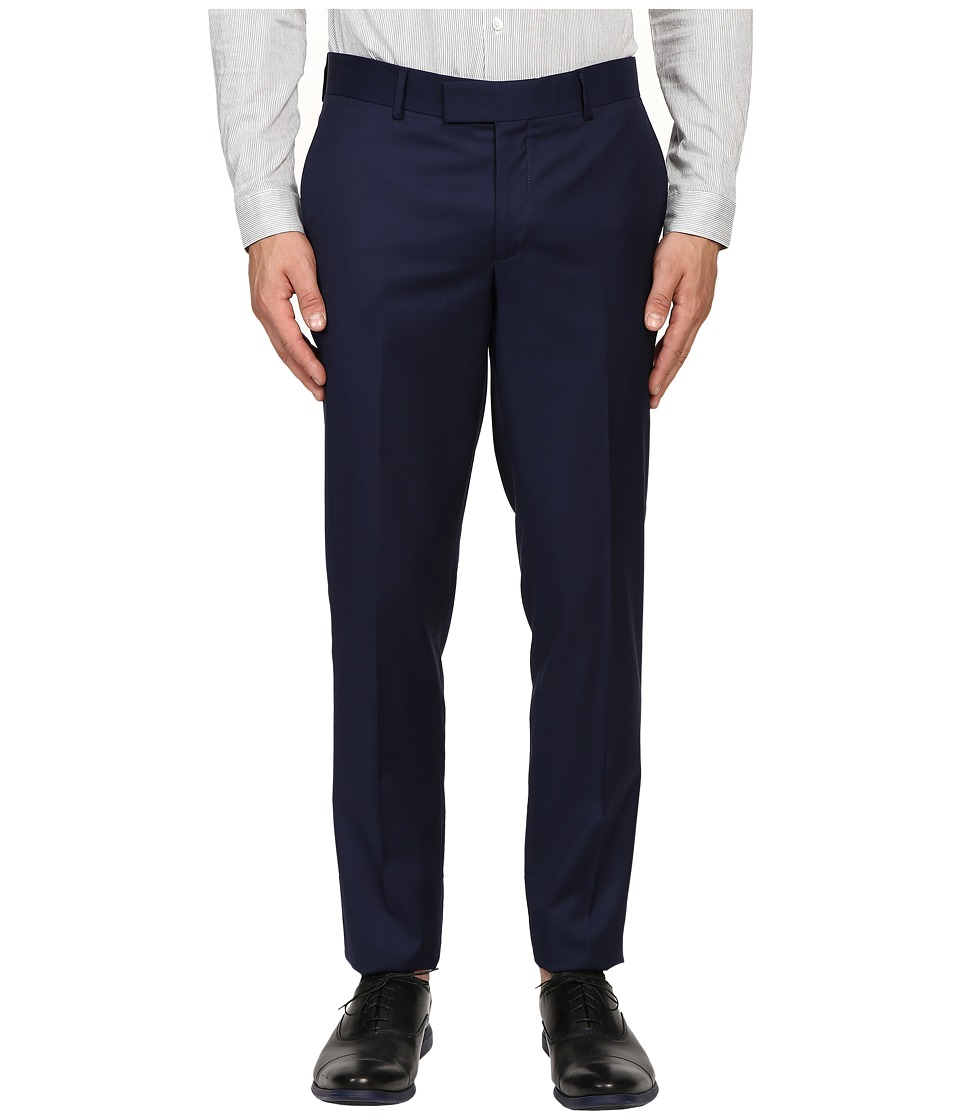 The Kooples - Fitted Suit Trousers (Blue) Men's Casual Pants