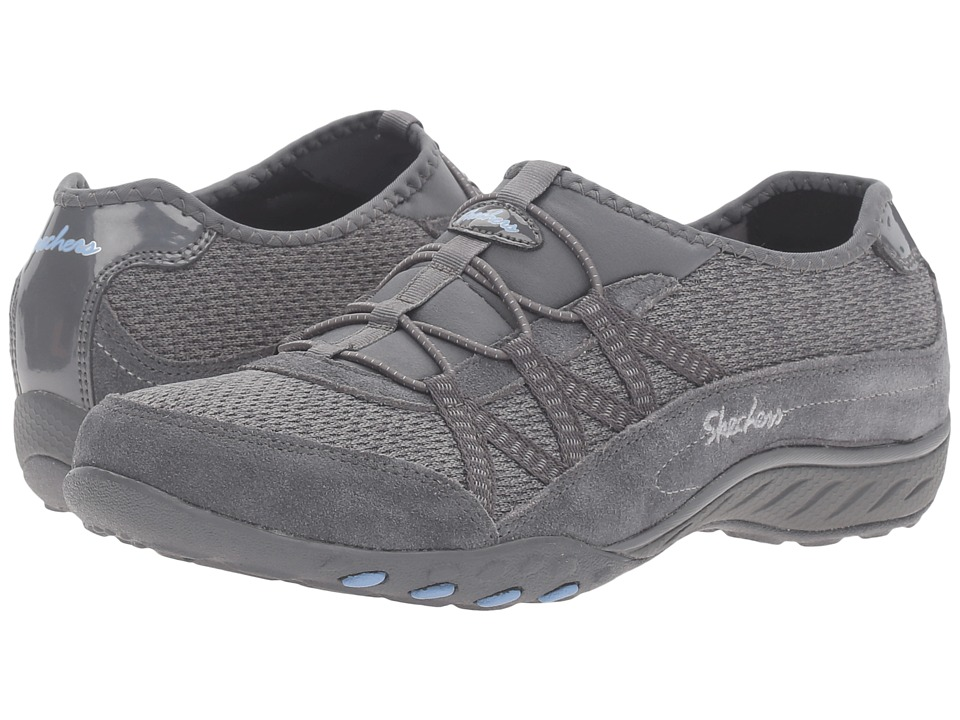 SKECHERS - Breathe Easy - Road Trippin' (Gray) Women's Shoes