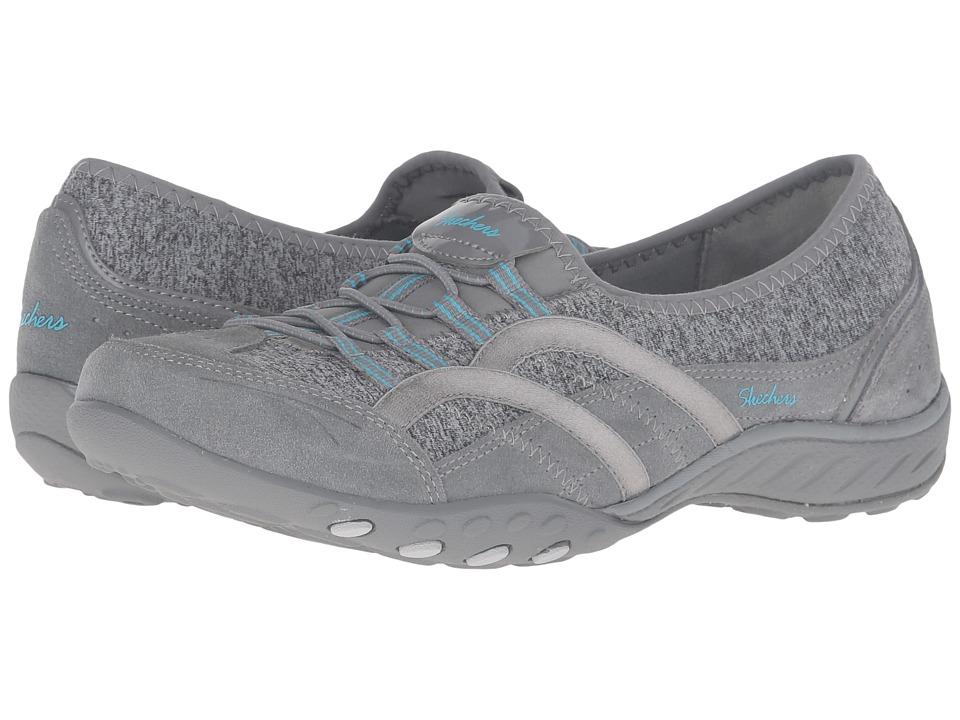 SKECHERS - Breathe Easy - Mantra (Gray) Women's Shoes
