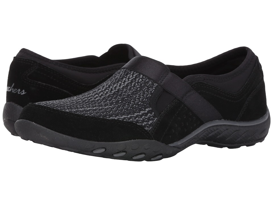 SKECHERS - Breathe Easy - Deal Me In (Black) Women's Lace up casual Shoes