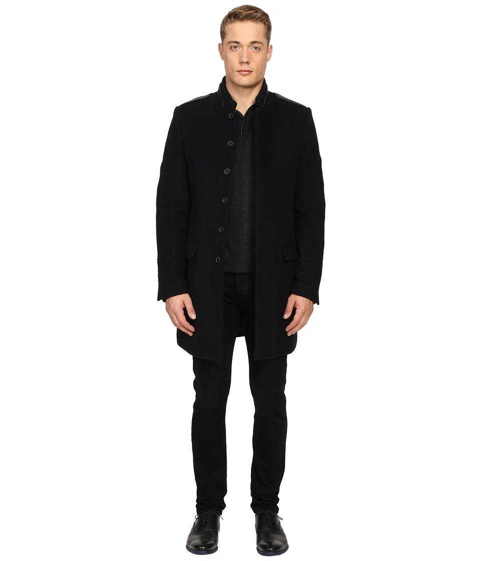 The Kooples - Buttoned Officer Coat (Navy) Men's Coat